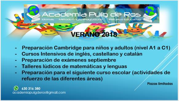 Academia Puig de Ros Estiu 2018